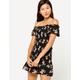 IVY & MAIN Smocked Peplum Off The Shoulder Dress
