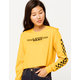VANS Funnier Times Yellow Womens Crop Tee