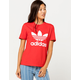 ADIDAS Trefoil Red Womens Tee
