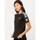 ADIDAS 3-Stripes Black Womens Tee