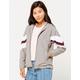 FULL TILT Arm Stripe Gray Womens Windbreaker Jacket