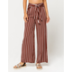 SKY AND SPARROW Tie Front Cinnamon Womens Pants