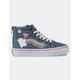 VANS Rainbow Sidestripe Sk8-Hi Zip Girls Shoes