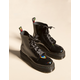 DR. MARTENS Molly Rainbow Patent Black Womens Boots