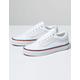 VANS Rainbow Foxing Old Skool True White Womens Shoes