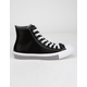CONVERSE Mission V High Top Black & White Womens Shoes