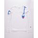 CHAMPION Shoulder Script White Boys T-Shirt