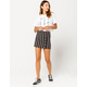 IVY & MAIN Stripe Button Front Mini Skirt