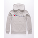 CHAMPION Heather Gray Classic Script Boys Hoodie