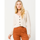 IVY & MAIN Button Front Pointelle Cream Womens Cardigan