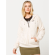 VOLCOM Snugz N Hugz Quarter Zip Cream Womens Hoodie