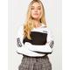 ADIDAS Cropped White & Black Womens Sweatshirt