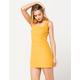 SKY AND SPARROW Stretch Corduroy Mustard Dress