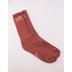 DARK SEAS Helberta Burgundy Mens Crew Socks