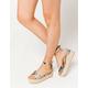 BAMBOO Scallop Espadrille Snake Womens Platform Sandals