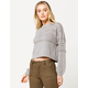 IVY & MAIN Pointelle Balloon Sleeves Womens Sweater