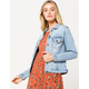 SKY AND SPARROW Vintage Medium Wash Womens Denim Jacket