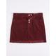 INDIGO REIN Exposed Button Corduroy Girls Mini Skirt