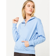 FULL TILT Quarter Zip Oversized Light Blue Womens Hoodie