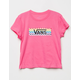 VANS Check Tangle Pink Girls Tee