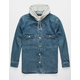LEVI'S Hooded Jackson Overshirt Mens Denim Jacket