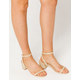 WILD DIVA Jute Wrap Block Womens Heeled Sandals