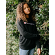 CHAMPION Raglan Black Girls Sweatshirt