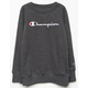 CHAMPION Raglan Charcoal Girls Sweatshirt