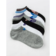 ADIDAS 6 Pack Originals Trefoil Black Womens Ankle Socks