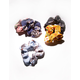 FULL TILT 5 Pack Floral Chiffon Scrunchies