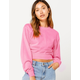 FULL TILT Pink Womens Crop Sweatshirt