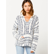 RIP CURL Seaside Stripe Vanilla Womens Hooded Sweater