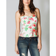 FULL TILT Floral Peplum Tube Top