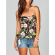 FULL TILT Floral Womens Peplum Tube Top
