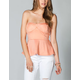 FULL TILT Womens Peplum Tube Top