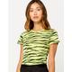 FULL TILT Zebra Neon Green Womens Tee
