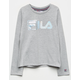 FILA Box Logo Gray Girls Tee