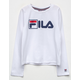 FILA Box Logo White Girls Tee