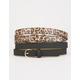 FULL TILT 2 Pack Leopard & Solid Belts