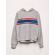 DICKIES Crop Stripe Girls Hoodie