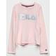 FILA Box Logo Pink Girls Tee