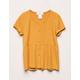WHITE FAWN Ribbed Babydoll Mustard Girls T-Shirt