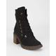 ROXY Eddy Heeled Lace-Up Black Womens Lug Boots