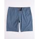 NITROUS BLACK Bronson Navy Mens Hybrid Shorts