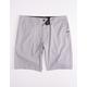 NITROUS BLACK Bronson Gray Mens Hybrid Shorts