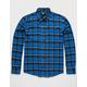 RSQ Blues Plaid Mens Flannel Shirt