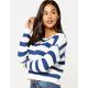 FULL TILT Stripe Womens Crop Sweater