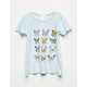 WHITE FAWN Butterfly Chart Girls Oversized Tee