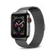 POSH TECH 42mm Stainless Steel Black Apple Watch Wristband
