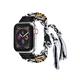 POSH TECH 42mm Friendship Bracelet Black & White Apple Watch Wristband